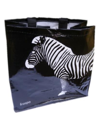 d72659e230de9 Czarna torba zakupowa Zebra Madello - artykuły gospodarstwa domowego ...